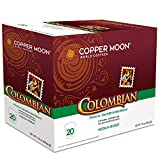Copper Moon Decaf Single Cups for Keurig K-Cup Brewers Colombian 7.05 oz 20 Count Hot Beverage Cups, Compatible with Most Single-Serve Brewing Systems that Accept K-Cups, Including Keurig 2.0