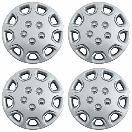 OxGord Hub-Caps for Select Toyota Camry (Pack of 4) 14 Inch Silver Wheel Covers -