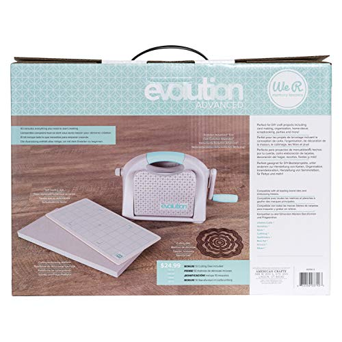 Evolution Advanced Die-Cutting and Embossing Machine by We R Memory Keepers   includes cutting/embossing tool, a 6 x 13-inch cutting and embossing platform, one self-healing mat and bonus nesting die by We R Memory Keepers (Image #2)