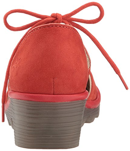 Fly London Poma Para Mujer Oxford Scarlet Cupido / Mousse