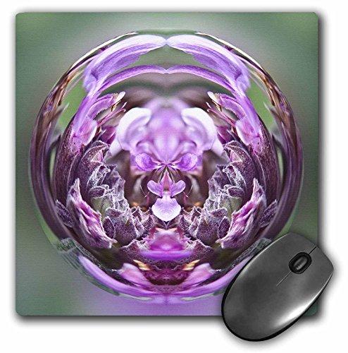 Alfombrilla de mouse 3D con acabado mate de rosa – 8 x 8 pulgadas, Decorativo, colorido, jardín, botánico, bola de...
