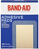 Band-Aid Brand Adhesive Pads, Large Sterile Bandages for Wound Care, Large Size, 10 ct