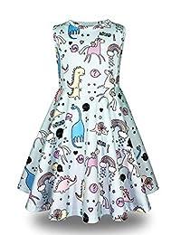 Minilove Girls Unicorn Dinosaur Dress