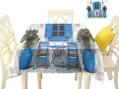 (WilliamsDecor Non Slip Tablecloth Travel,Holiday Summer House Flowers Tassel Tablecloth W 70