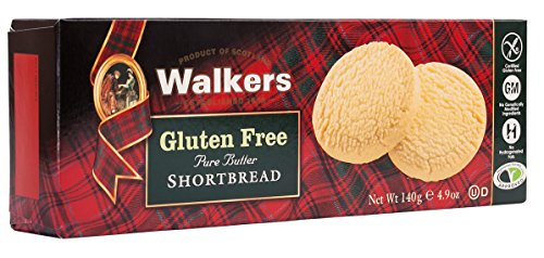 Walkers Shortbread Gluten-Free Pure Butter Shortbread Rounds, 4.9 Ounce Box (Pack of 6) Pure Butter Gluten Free Shortbread Cookies from the Scottish Highlands, No Artificial Flavors