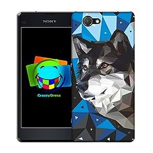 BRALEXX–Funda para Sony Xperia Z1Compact poligonal 5