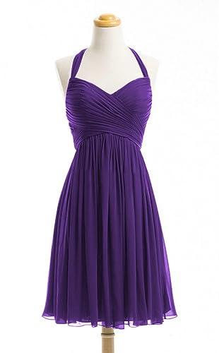 WeiYin Women's Halter Short Party Dress Bridesmaid Dresses
