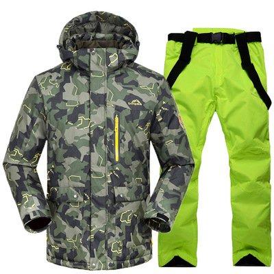 Uomini Donne Calda Cerniera Cappotto Sci Fym Verde Di Pantaloni Rivestimento Antivento Impermeabile Del Giacche Dyf nw41qU0x