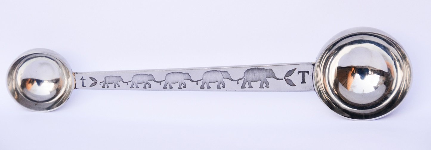 Elephant Approved Double Scoop for Measuring Tea