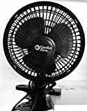 Appliances : Comfort Zone -6 INCH- -2 Speed - Adjustable Tilt, Whisper Quiet Operation Clip-On-Fan with 5.5 Foot Cord and Steel Safety Grill , Black