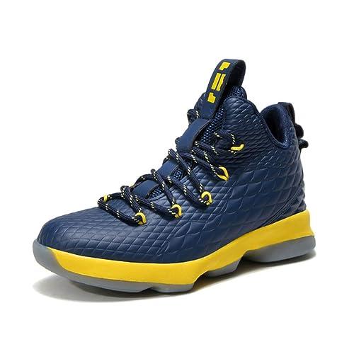 Zapatillas de Baloncesto para niños High Top Zapatillas Antideslizantes para niños Que entrenan en Forma física Zapatillas de Deporte para Estudiantes de ...
