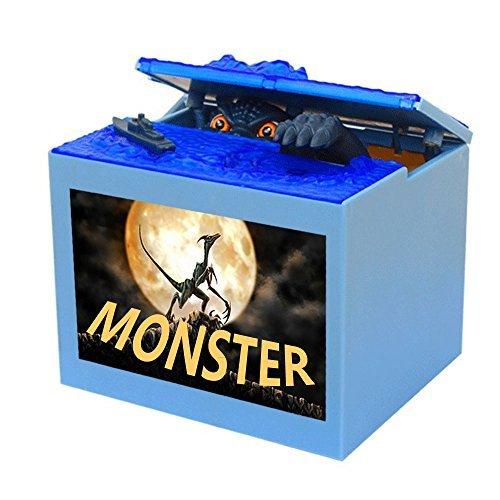 Smart Life Helper Monster Dinosaur Moving Musical Electronic Chirldren Coin Money Saving Piggy Bank Box