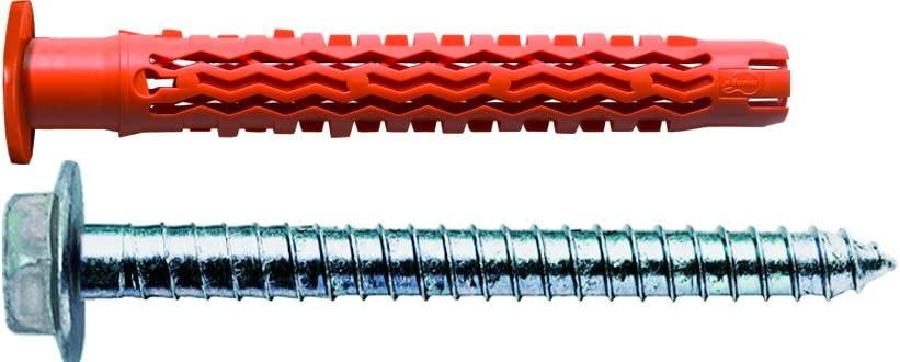 50 Pezzi con Vite Flangiata Esagonale Mungo MQLK-STB Tassello con Collare Contro i Ponti Termici 10x80 mm