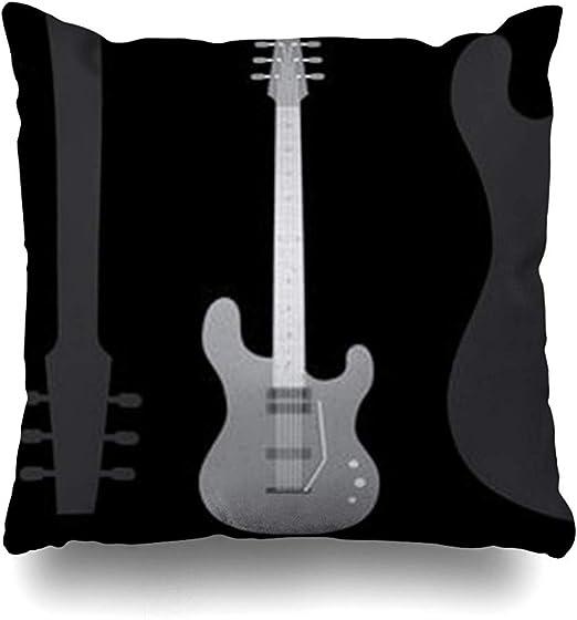Fundas de Almohada de Tiro Acordes Bajo Rock Guitarra eléctrica ...