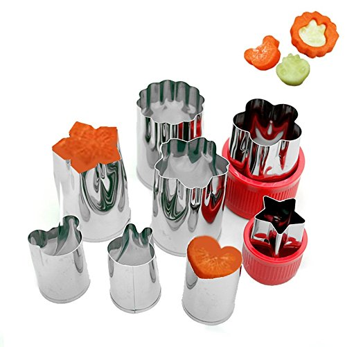 Astra Shop Vegetable Cutter Shapes Set ( 8 Piece) - Mini Cookie Cutters, Super Cute Vegetable Presses Stamps (Food Shape Cutters)