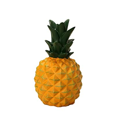Candy Color Pineapple Shaped Resin Piggy Bank Save Money Coin Cans Ornaments