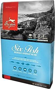 Orijen 13 LBS, Dry Dog Food, Six Fish Formula. 13 lb Bag (with Pacific Pilchard, Mackerel, Hake, FLOUNDER, Rockfish & Sole) Six Fish Formula