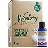 Woolzies 6 Pack XL 100% Pure Wool Dryer Balls Natural Fabric Laundry Softener + Woolzies 100% Pure Lavender Essential Oil Combo