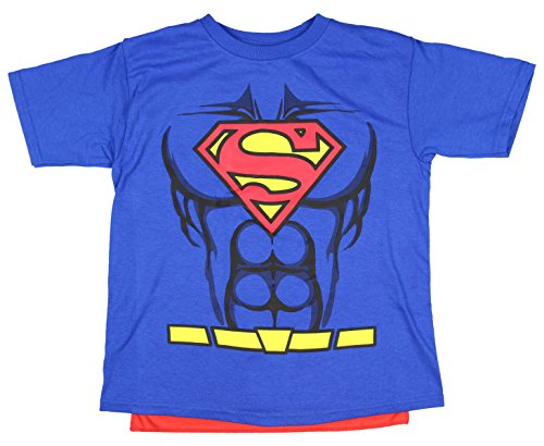 DC Comics Superman Boys Caped Shirt (X-Small 4/5) (Superman T Shirt With Cape)