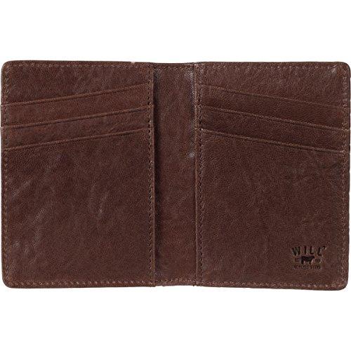 Leather Pocket Men's Will Cognac Black Front Wallet Goods Flip UqOCwZxA