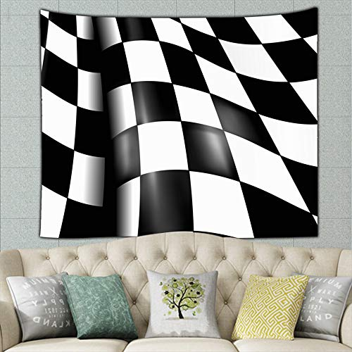 jtykftuf Sports Checkered Flag Illustrations Clip Art Flag Illustrations Clip Art Mural for Bedroom Living Room Dorm Home Décor 50ʺ × 60ʺ