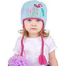 Huggalugs Baby and Toddler Girls Aqua Mermaid Beanie Hat