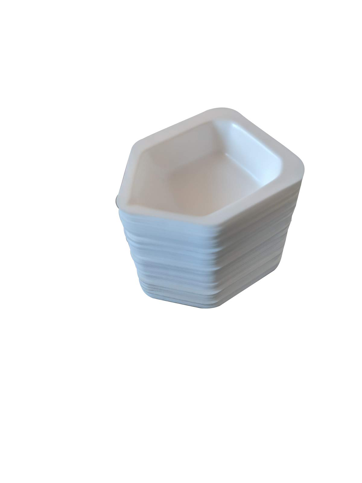 Pointed Polystyrene Weigh Canoe Boats, Medium Dish 2 7/8 in x 4 ¾ in x 1 ¼ in [Pack of 125] by Bartovation