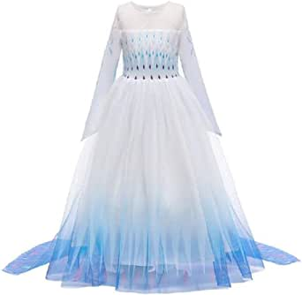 Elsa Dress Baby Girls Princess Costume Kids Dresses Robe Birthday Carnaval Party Stage Show Dress Up with Long Cloak