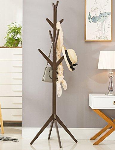 Amazon.com: Solid Wood Coat Rack Floor-standing Bedroom ...