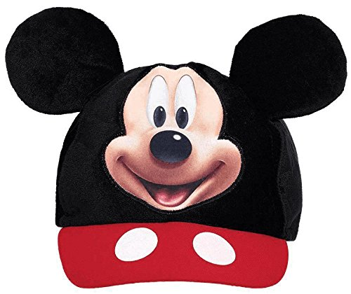 Amscan DisneyMickey Mouse Birthday Party Mickey's Ear Baseball Hat Accessory, 5 5/8' X 3 1/2
