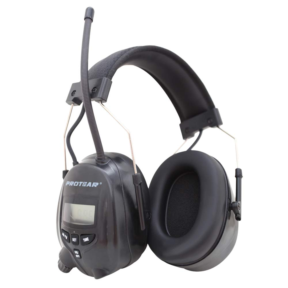 Protear FM/AM Radio Noise Reduction Headset,Protear Ear Defenders with Stereo Headphone Jack for Working/Mowing