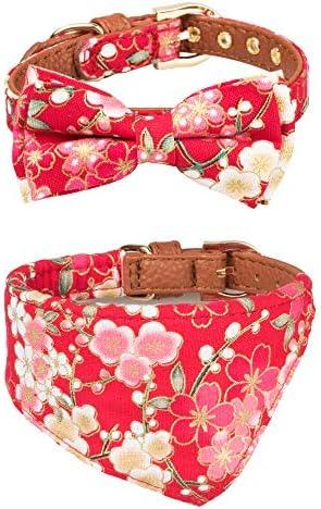 Gyapet Bandana Puppies Adjustable Flower red