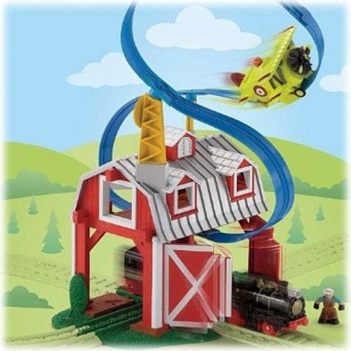 - Fisher-Price GeoTrax Rail and Road System Blast-Through Barn with GeoAir Expansion Track
