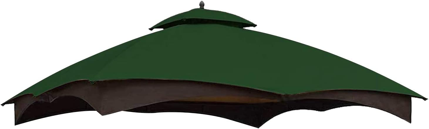 MASTERCANOPY Replacement Canopy Top for Lowe's Allen Roth 10x12 Gazebo #GF-12S004B-1 (Forest Green)