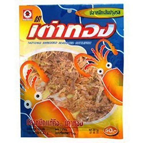 Taotong Squid Seasoned Cuttlefish Snack, Shredded (24g). Product of - Graze Uk Shop