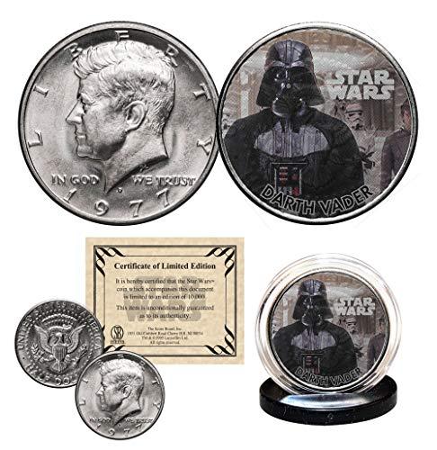 (DARTH VADER - STAR WARS Officially Licensed 1977 JFK Half Dollar U.S. Coin)