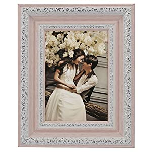 "Lilian PC Polymer Environmental Exquisite Desktop Picture Frames, Pink, 5""x7"""
