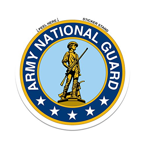 (Army National Guard car bumper sticker 4