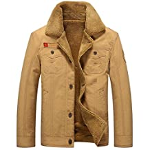 K3K Hot! New Winter Men's Fashion Faux Fur Lined Thick Flight Jacket