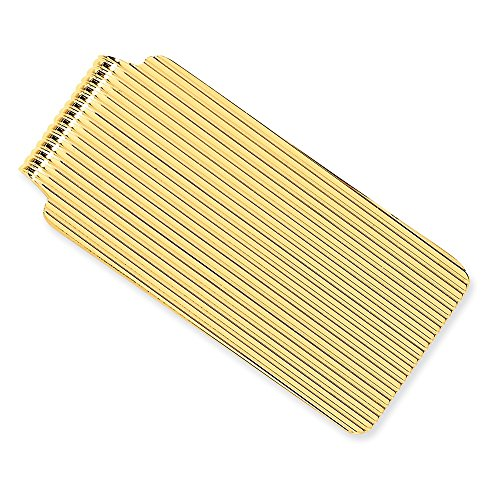 14k Solid Yellow Gold Money Clip by Mia Diamonds and Co.