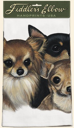 Fiddler's Elbow Chihuahua Kitchen Towel