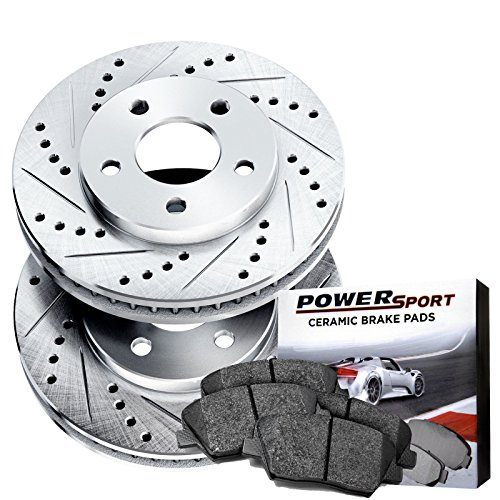 Front Cross-Drilled Slotted Brake Rotors Disc and Ceramic Pads Blazer,K1500