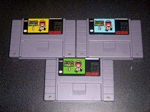Kaizo Mario Trilogy Set 1 2 and 3 - Game For SNES Super Nintendo - Platformer