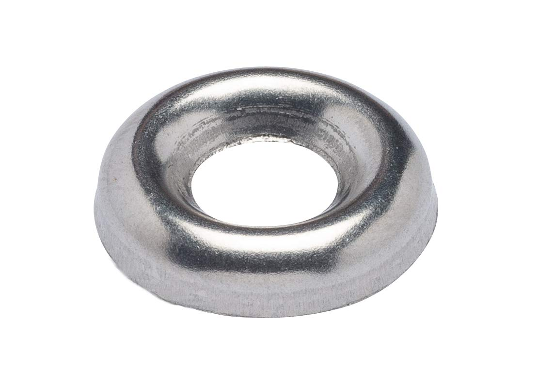 250 The best fasteners 3//8 Nickel Plated Countersunk//Cup Finishing Washers