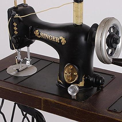 GONGYIPIN Adornos de Hierro Forjado Hecho a Mano Antigua máquina de Coser Modelo Retro Accesorios de