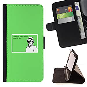 BullDog Case - FOR/Samsung Galaxy Note 4 IV / - / sex ultimate fantasy funny quote man dream /- Monedero de cuero de la PU Llevar cubierta de la caja con el ID Credit Card Slots Flip funda de cuer
