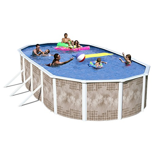 Heritage YO 241252SFP Yosemite Complete Above Ground Pool, 24-Feet x 12-Feet x 52-Inch