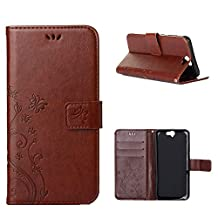 """HTC One A9 Case, LANDEE Advanced Pressed Flowers Series The Unique Design PU Leather Wallet Stand Flip Case for HTC One A9 (5.0"""") (HTCA9-P-0404)"""