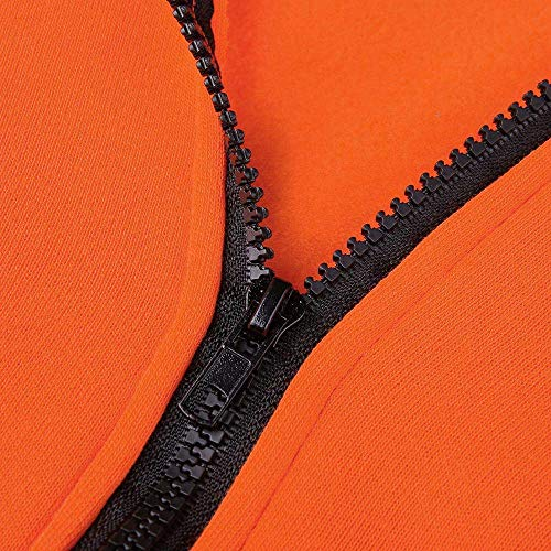 Abrigo Larga Ears Para Fox Capucha Con color De Naranja Zhrui Naranja Mujer 3x Tamaño Orejas Manga Corta Otoño dqwztXv