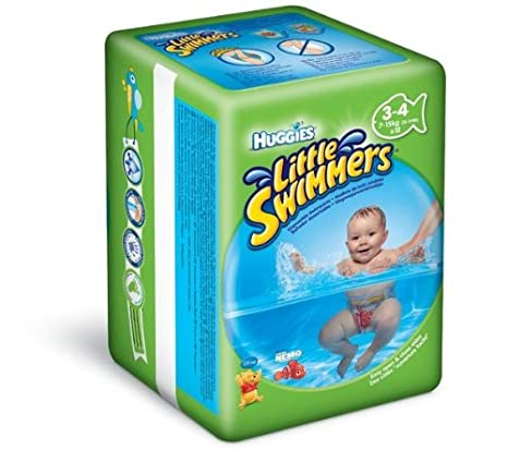 HUGGIES Pañales Little Swimmers Talla 3 / 4 (7 a 15 kg) - Paquete